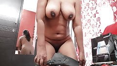 Sexy girl masturbating and fingering her pussy