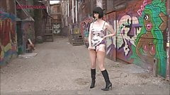 Downtown Mature Tramp in Sex Boots