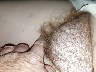 checking out her hairy bush before the alarm goes off