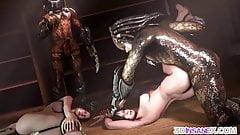 3D Predators fucking hot tight pussy babes