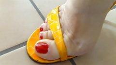 Teasing in heels