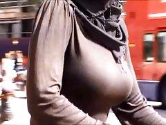 Candid Boobs: Busty Arab Woman 1
