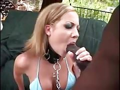 Sexy blonde takes a monster BBC