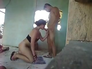 Reverend's unfaithful wife fucking in an abandoned house