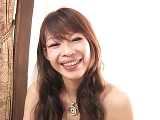 Japanese beauty with perky tits masturbates solo
