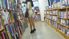 Babe Reads Books Upskirt Voyeur