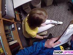 Shoplifting Sweety Catarina Gets Banged's Thumb