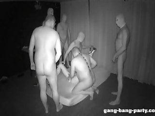 Darkroom GangBang Party with Farah Slut - part 1