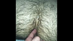 Extremely hairy hole fucked raw and fingered by smooth daddy