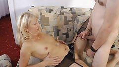 German Amteur Swinger Mom Moni and Dildo Sales Guy