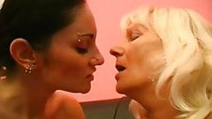 Two Grannies Take Turns With Young Girl 2