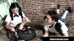Horny Students Jelena Jensen & Aria Giovanni Try Sex!