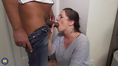 Hot moms suck and fuck big young cocks