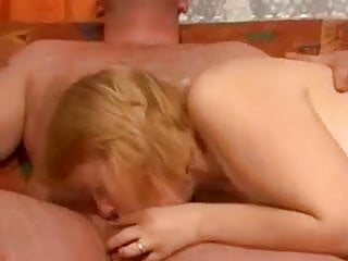 Chubby mom with huge tits and a guy