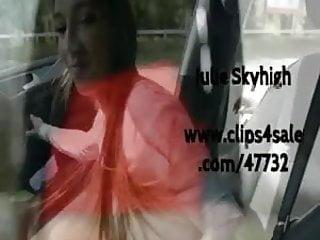 2 teen best hookers in street & blowjob in the car & upskirt