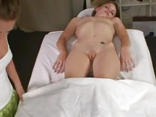 Sexual massage with two girls.