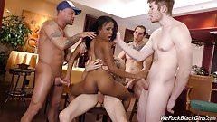 Black girl Tiffany Tosh gangbanged by white coworkers
