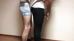 Azeri touch grope black leggings spandex. azerilasin baku