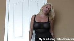 Eat your cum for me you dirty little slut CEI