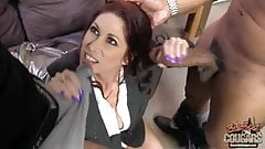 Mature mother Tiffany fucked by two blacks at once