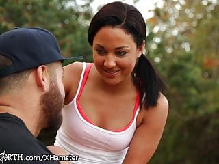 Petite College Teen Jogger Gets A Creampie After Her Run
