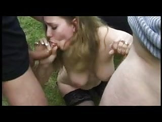 FRENCH CASTING 97 blonde anal foursome double penetration