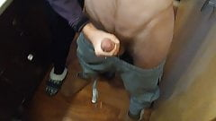 Mirror and Floor Sprayed in Cum - Wife's Helping Hand