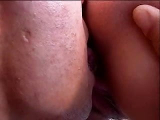Girl on her knees gives guy a hot blowjob in the kitchen then fucks