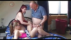 Group sex - Mature couple with a gril