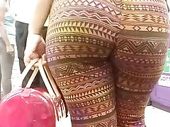 Fat ass teen can't stop moving slow motion