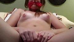 Slut Slave Teen Masturbates Rough on Webcam