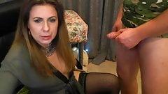 webcam office girl