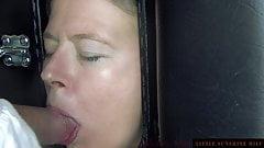Gloryhole with huge Cum in Mouth CIM - Little Sunshine MILF