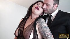 PASCALSSUBSLUTS - Curvy Nikki Gold fed jizz after domination's Thumb