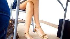 Hot Leg Tease and Upskirt