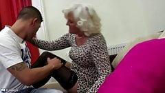 Grandma go hard with young pervert boy