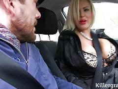 Hot blonde Milf fucks taxi driver