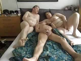Bisex mature old couple video