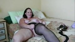 Nice plump mature playing and dressing