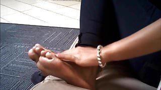 Flip flop dangle tease Ahmidah series Choc0cock