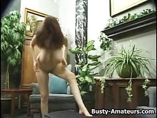 Kathryn shaking her busty tits and masturbate on cam