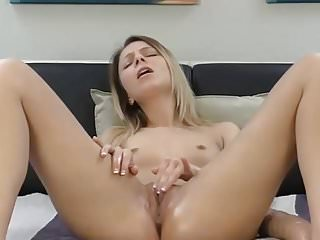 Fingering her pussy until she squirts