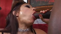 MILF takes huge black cock in asshole