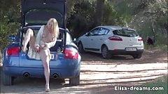 Flashing and Masturbation on a small road
