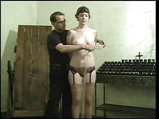 Black pussy being ripped - Sexy slave with a nice rack, bound gagged, with her pussy being teased