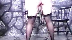 clothespins on small titty slave pussy lip and whipped KOLI's Thumb