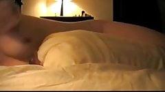 Sister masturbating with a pillow #1