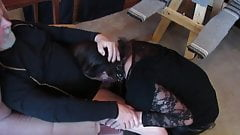 BJ in a chair