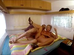 German Granny Fucked in a Camping Trailer