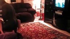 Cuckold sissy husband getting off by watching BBC fucking